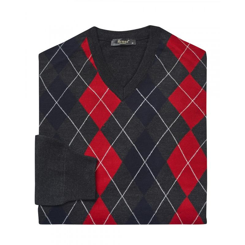 Armas Pullover mit V-Ausschnitt