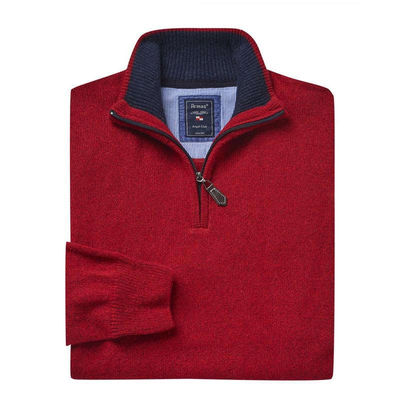 Armas Pullover mit Troyer Zipp