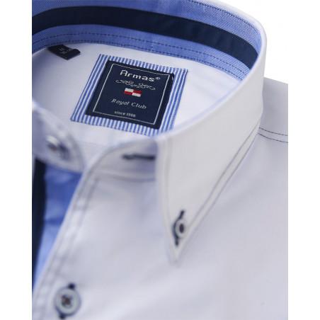 Armas Hemd Kurzarm Kariert      Button Down-Kragen